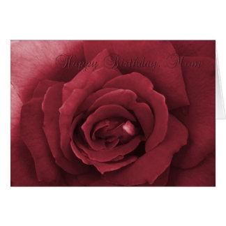 rose happy birthday mom card