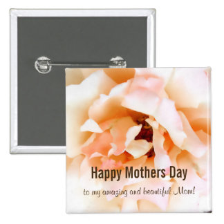 Rose Happy Mothers Day Button