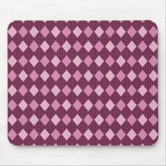 Rose--Harlequin_Diamonds_Home-Work-Decor Mouse Pad