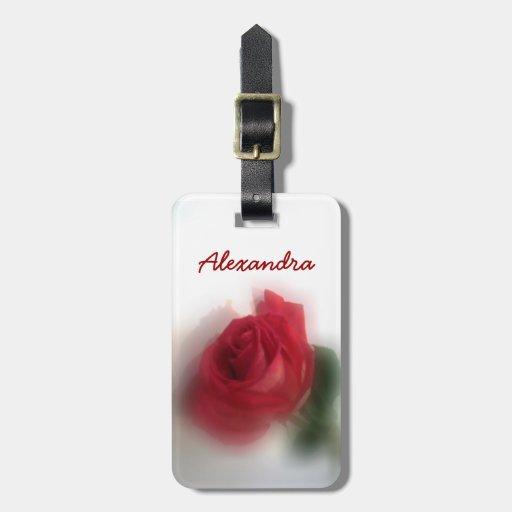 Rose Haze Personalized Luggage Tag