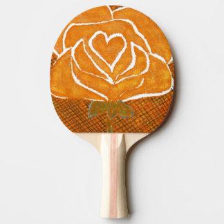 """Rose Heart #3"" Ping Pong Paddle"