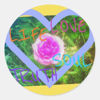 rose heart affirmations sticker