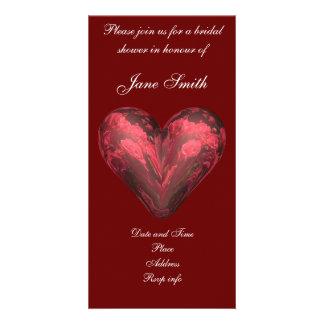 Rose heart card