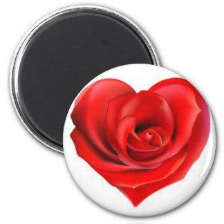 Rose Heart of Love Magnet