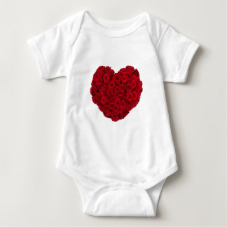 Rose heart shape baby bodysuit