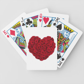 Rose heart shape bicycle playing cards