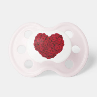 Rose heart shape pacifier