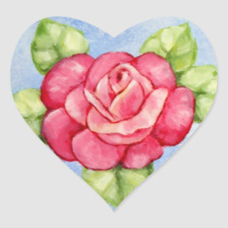 Rose Heart Stickers