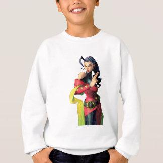 Rose Holding Up Two Fingers Sweatshirt