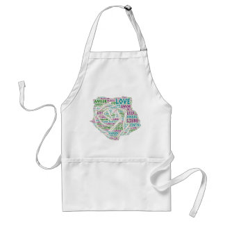 Rose illustrated with Love Word Standard Apron