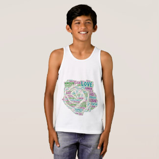 Rose illustrated with Love Word Tank Top