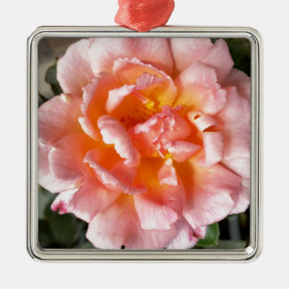 rose in autumn metal ornament