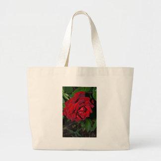 Rose in Deep Red Large Tote Bag
