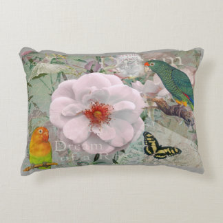 rose in exotic ambiente accent pillow