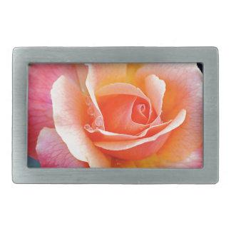 Rose in Full Bloom Rectangular Belt Buckles