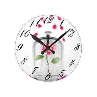 Rose in glass jar photo clock