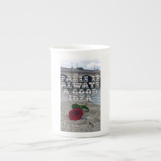 Rose in paris mug