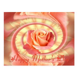 Rose in swirly frame postcard