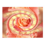 Rose in swirly frame postcards