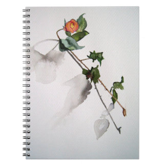 Rose in watercolor notebooks