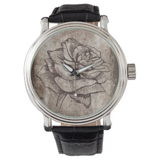 Rose Ink Drawing Watch