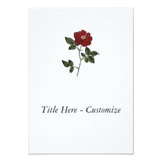 Rose 5x7 Paper Invitation Card