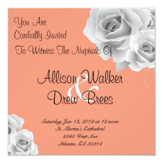 Rose Invitation (Peach)