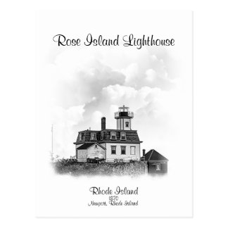 Rose Island Lighthouse - Newport, Rhode Island Postcard