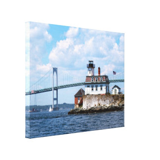 Rose Island Lighthouse, Rhode Island Canvas Print