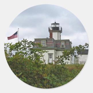 Rose Island Lighthouse Round Sticker