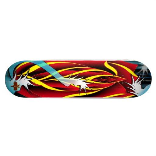 rose japanese wave custom skate board