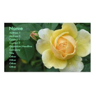 Rose jaune modèle de carte de visite