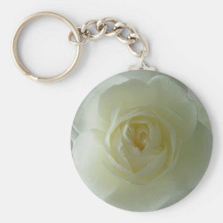 Rose Key Chains Romantic White Flower Gifts