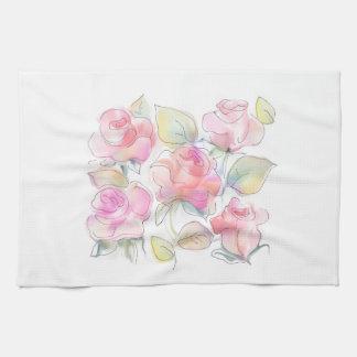 rose kitchen towel