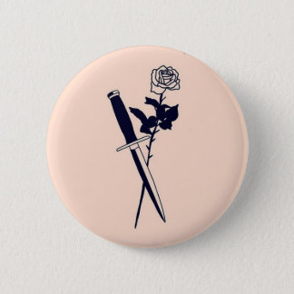 Rose & Knife ~ Button