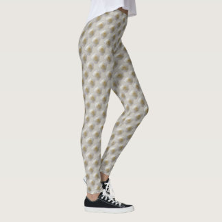 Rose Leggings Beautiful White Roses Leggings