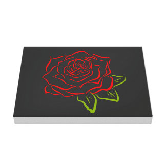 Rose Line Drawing Canvas