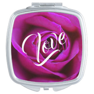 Rose Love Compact Mirror