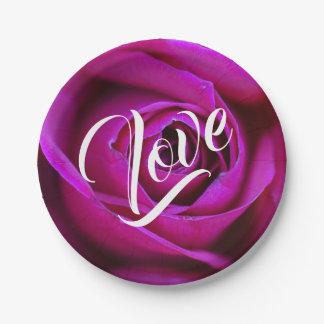 Rose Love Paper Plate