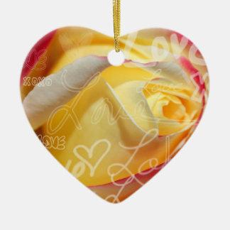 Rose Love Pendant Ceramic Ornament