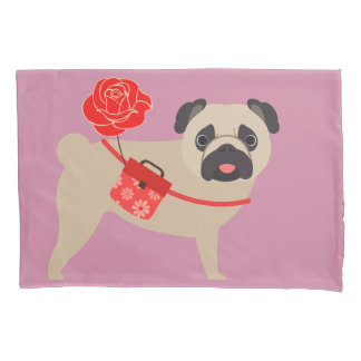 Rose Love Pug Pillowcase