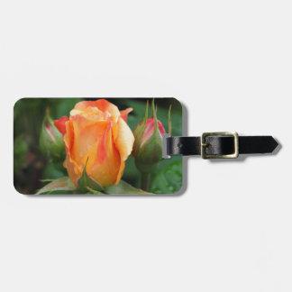 rose luggage tag