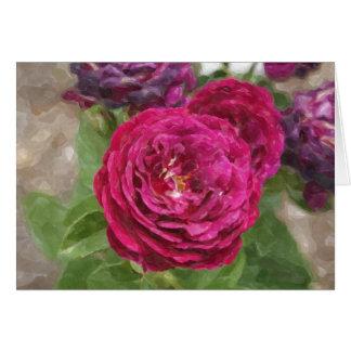 Rose Magenta Impressions Floral Card