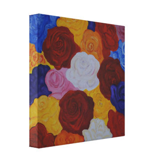 Rose magic canvas print