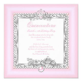 Rose magique de conte de fées de 15ème carton d'invitation  13,33 cm