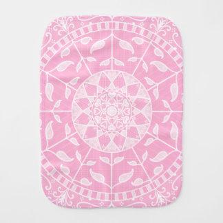 Rose Mandala Burp Cloth