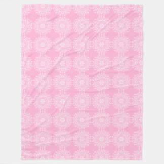 Rose Mandala Fleece Blanket