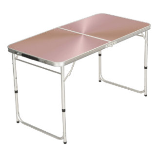 Rose Metallic Pong Table