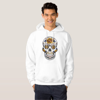 Rose Mexican Sugar Skull Day of the Dead Hoodie
