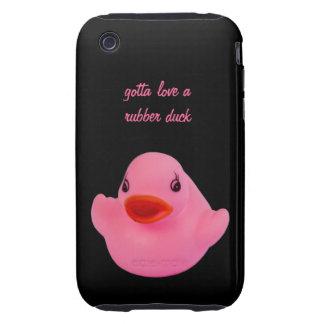 Rose mignon de canard en caoutchouc, amusement, no coque iPhone 3 tough